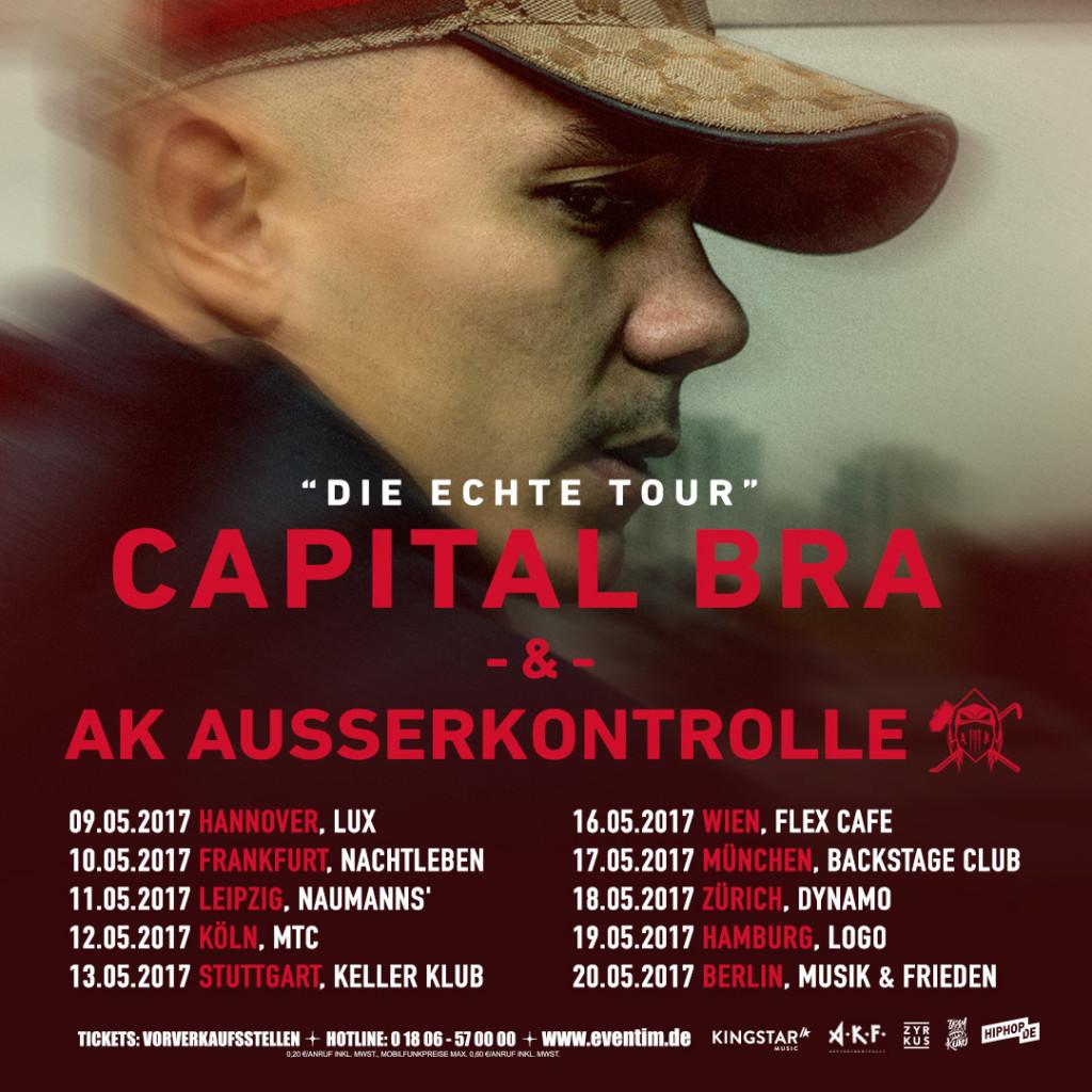 CAPITAL BRA UND AK AUSSERKONTROLLE - Chartstürmer gemeinsam auf Tour