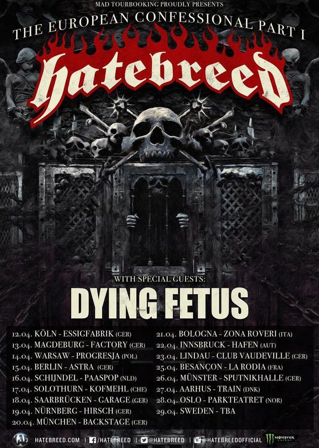 Hatebreed kündigen Europatour an