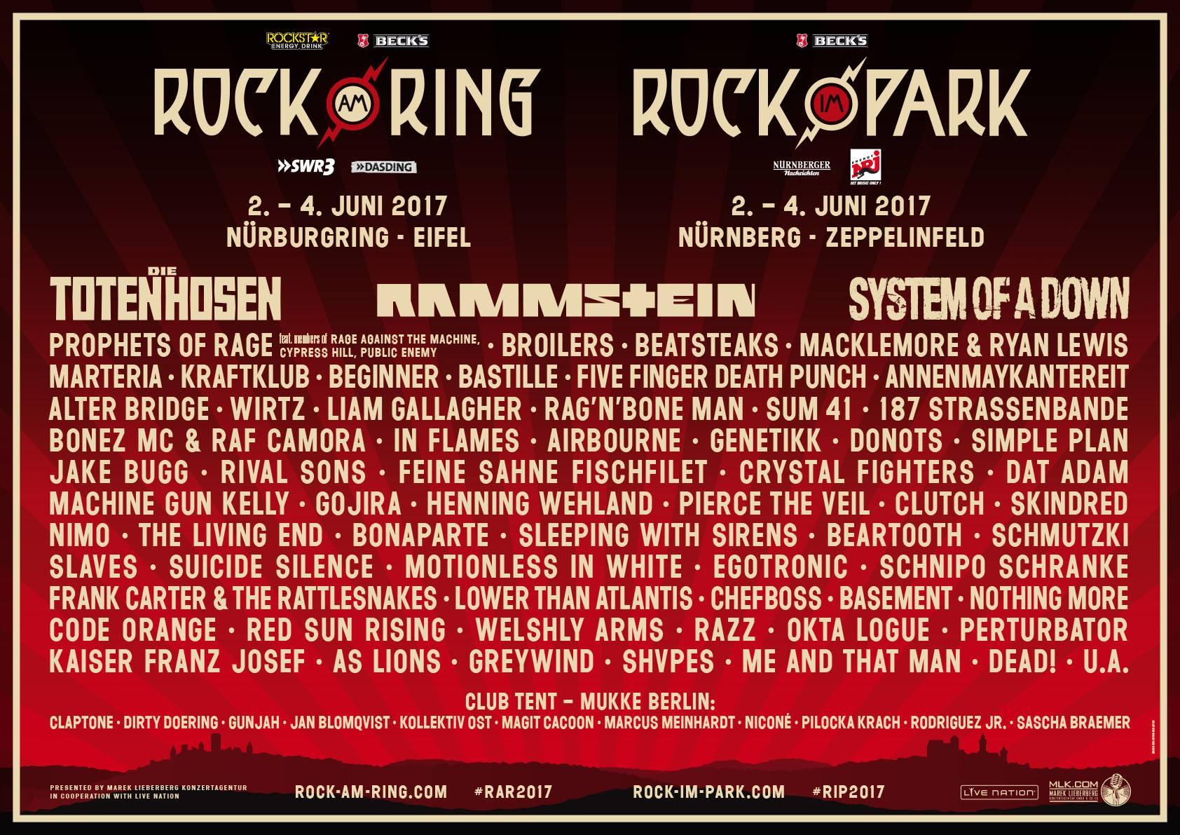 rock am ring rock im park - Rock am Ring / Rock im Park 2017