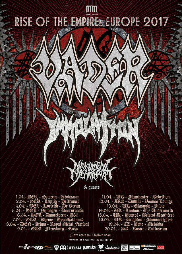 vader immolation tour2017 full - Vader auf Europatour