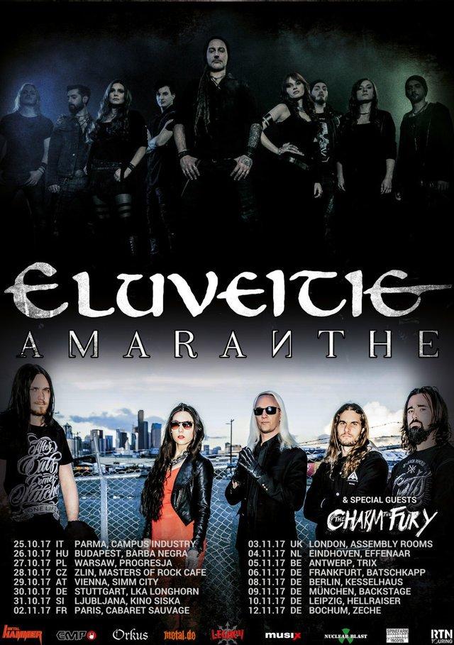 eluveitie amaranthe tour2017 - ELUVEITIE - gehen im Herbst mit AMARANTHE auf Europatour