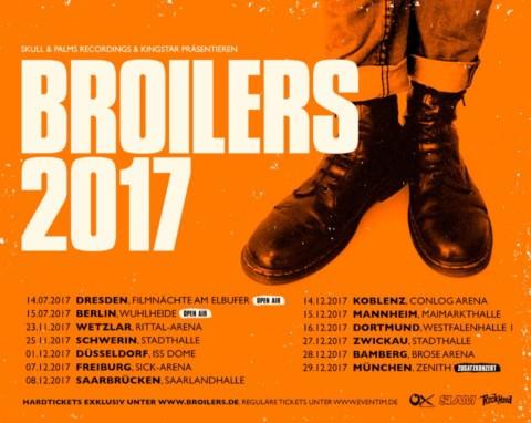 Die Broilers kommen Ende 2017 auf Tour!