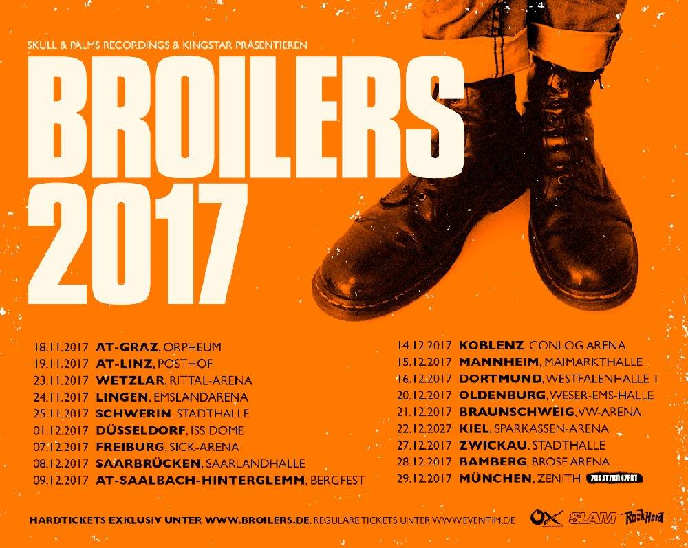 2017 – Das Jahr der Broilers: Tournee weiter verlängert