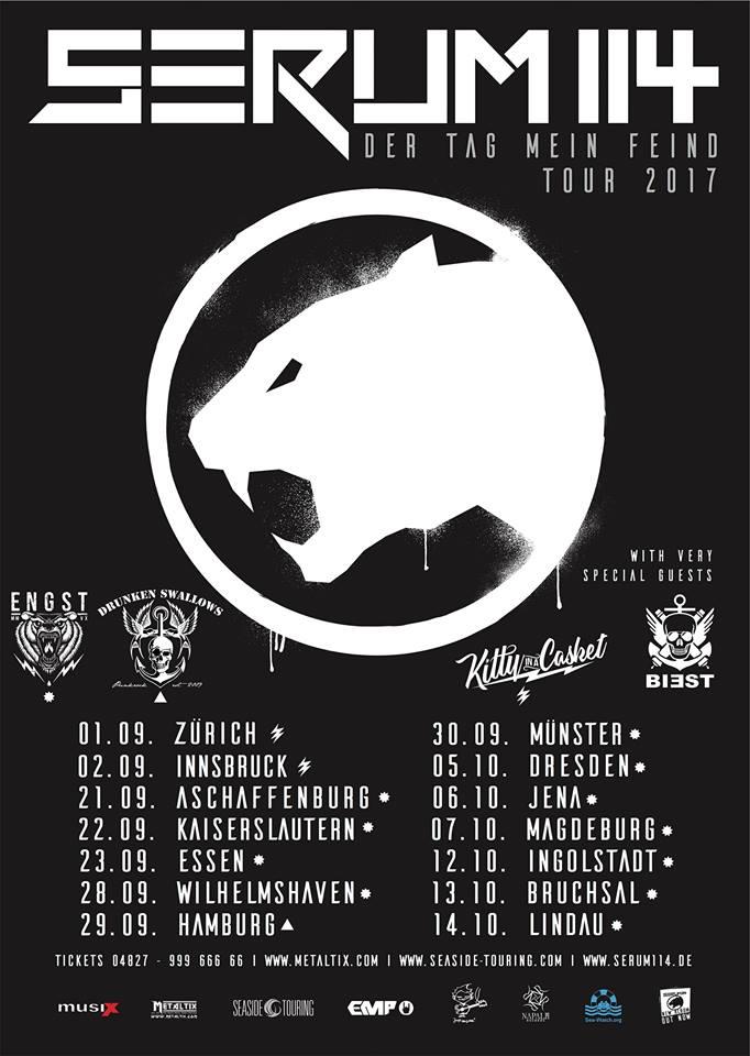 Serum114 kommen im September/Oktober 2017 auf Tour