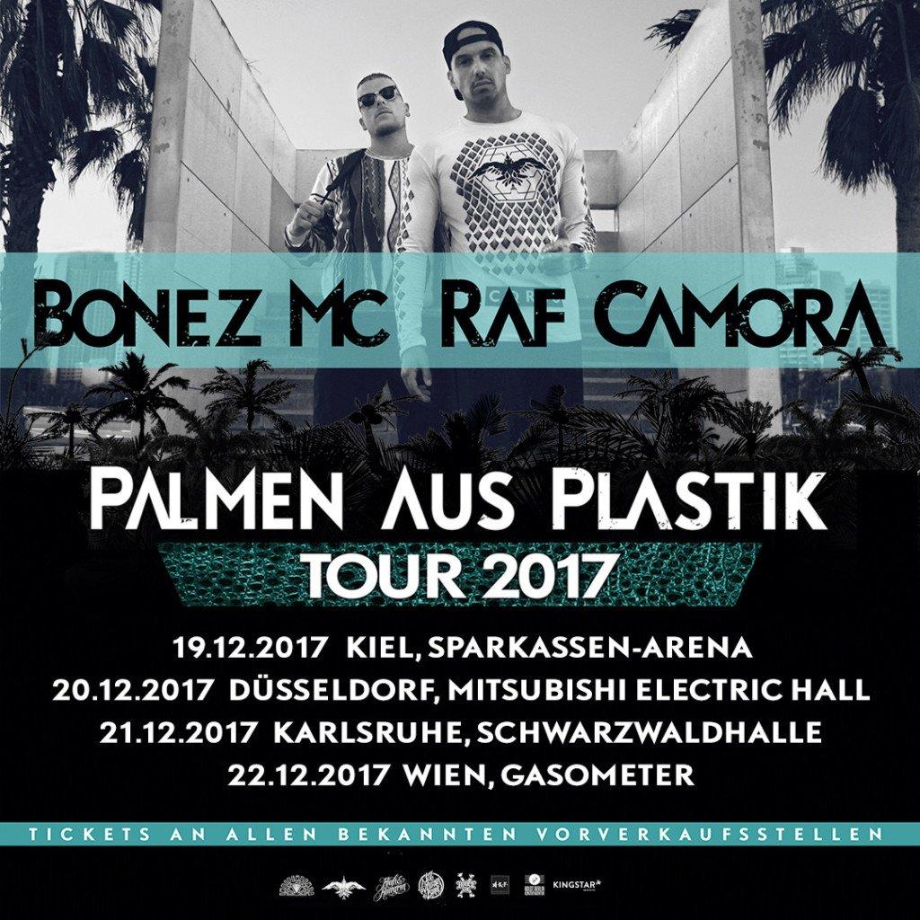 BONEZ MC & RAF CAMORA geben zu PALMEN AUS PLASTIK vier weitere Zusatzkonzerte