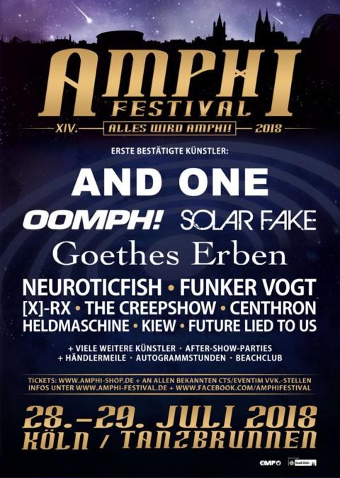 AMPHI FESTIVAL 2018 – Erste Bands bestätigt!