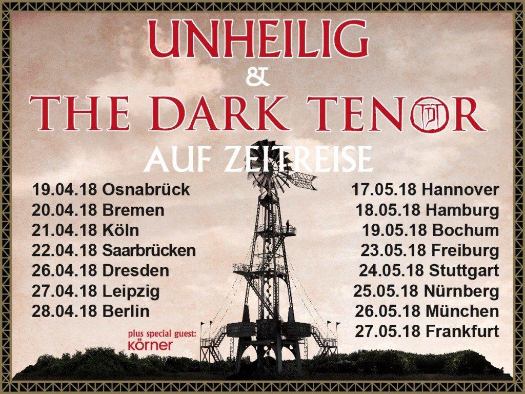 UNHEILIG & THE DARK TENOR - ab April auf Zeitreise Tour
