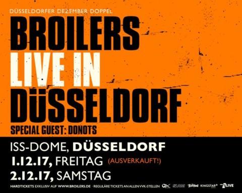 Broilers: Düsseldorfer Dezember Doppel – ERSTER ABEND AUSVERKAUFT