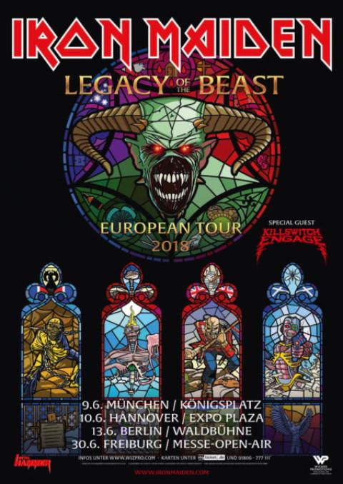 Iron Maiden – Legacy Of The Beast European Tour 2018