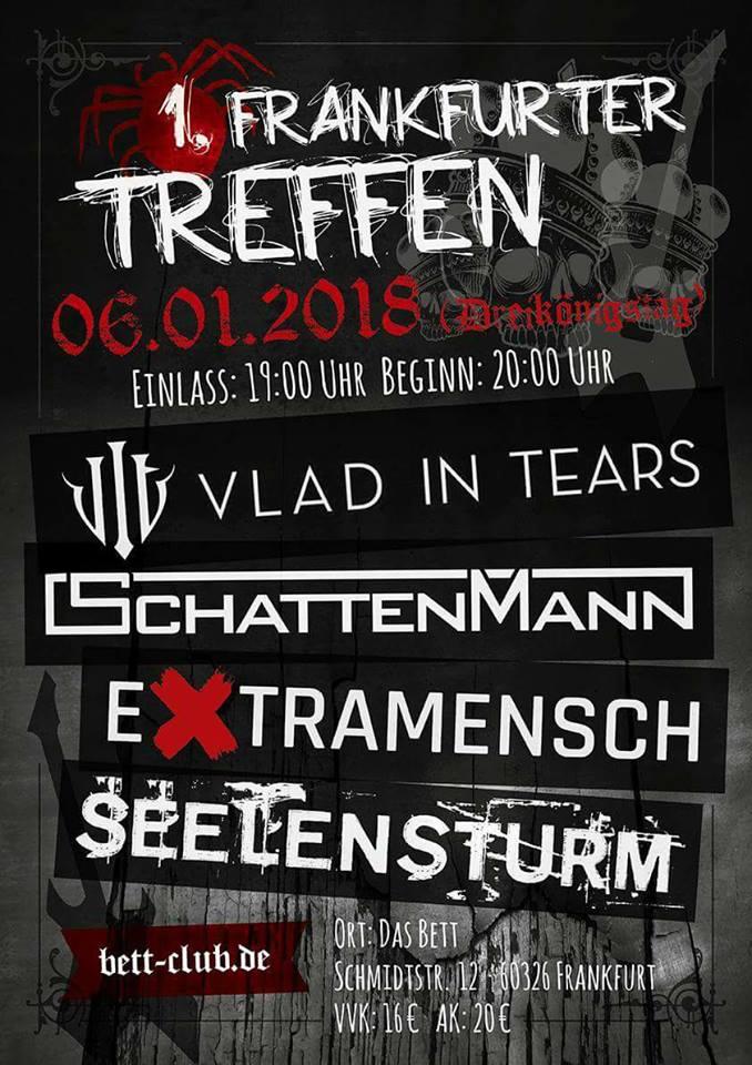 """""""Frankfurter Treffen"""" am 6.1. mit Seelensturm, Extramensch, Schattenmann und Vlad in Tears"""