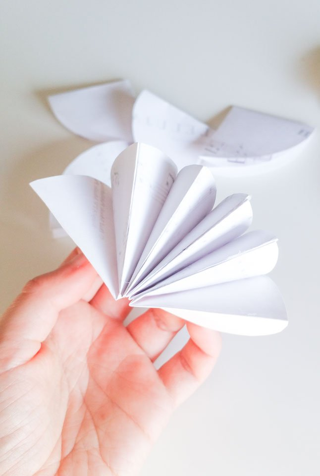 blume basteln papier