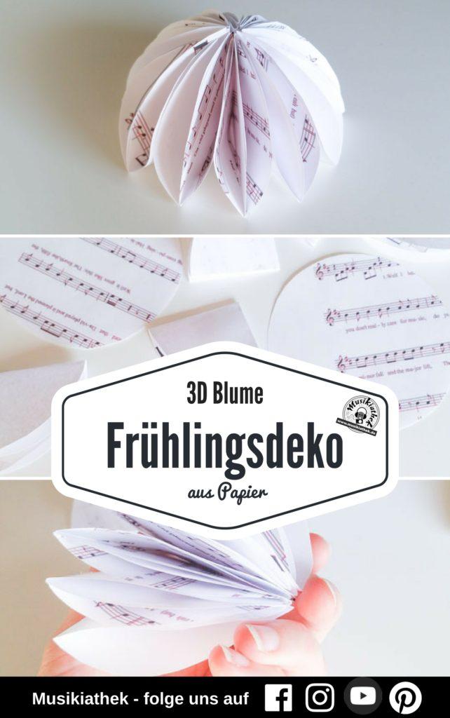 Papierblume Basteln Schöne Diy Blumen Aus Papier Musikiathek