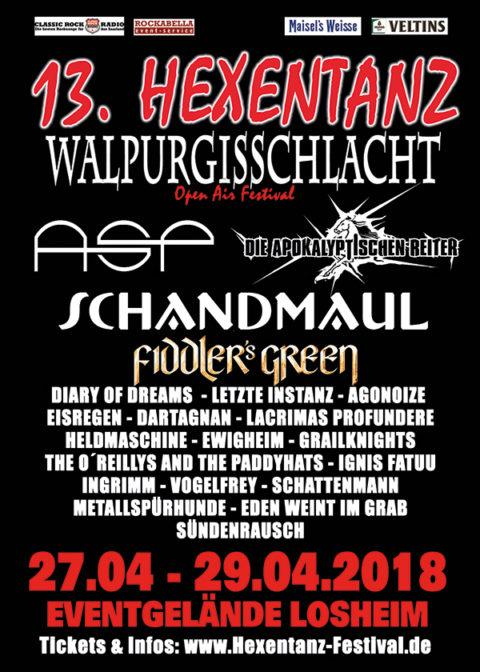 Willkommen zum 13. Hexentanz Festival – u.a. mit ASP, Die Apokalyptischen Reiter, Schandmaul uvm!