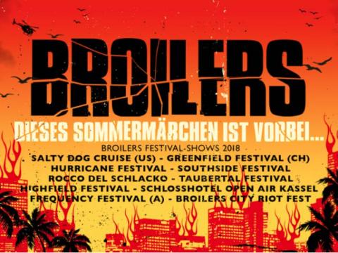 """Broilers: 2018 live auf """"Dieses Sommermärchen ist vorbei…"""" Festival-Tour und auf dem """"Broilers City Riot Fest"""" in Wiesbaden"""