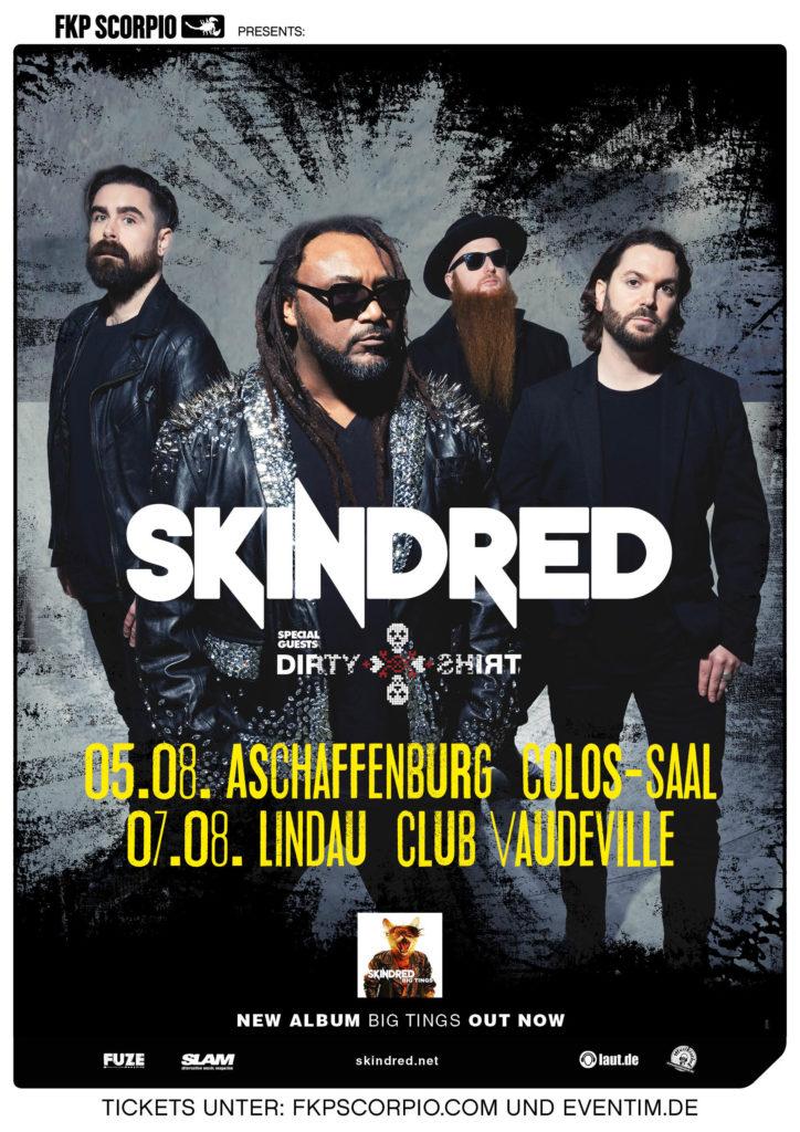 """Die Musikiathek präsentiert: Skindred kommen im August auf """"Start The Machine""""-Tour (Support: Dirty Shirt)"""