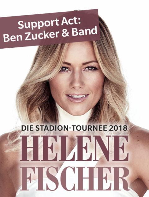 Helene Fischer: Ben Zucker & Band als Support-Act bei der Stadion-Tournee 2018