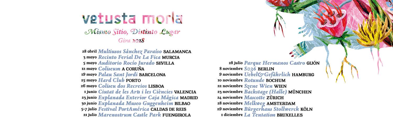 """vetusta morla - Vetusta Morla – """"Mismo Sitio, Distinto Lugar"""" – Tour 2018"""