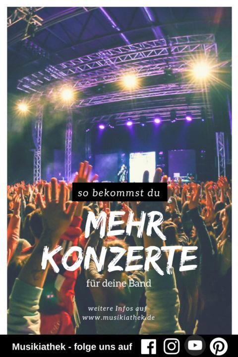 Auftritte bekommen: so findet ihr mehr Konzerte und Veranstaltungen für eure Band