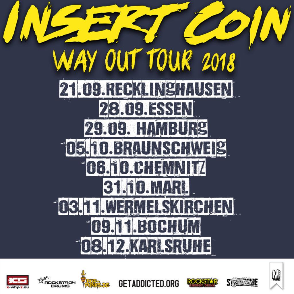 """Insert Coin kommen mit neuem Album """"Way Out"""" auf Tour"""