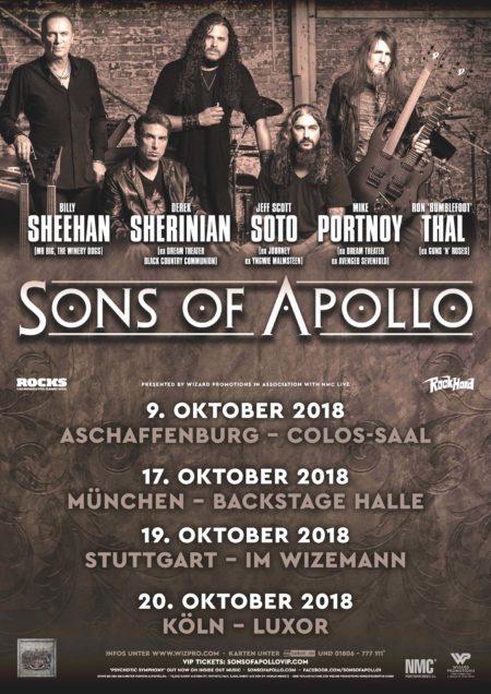 Erlebt Sons Of Apollo im Herbst 2018 live!