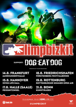 Dog Eat Dog eröffnen für Limp Bizkit im August 2018