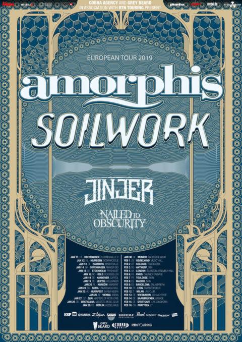 NAILED TO OBSCURITY – befinden sich im Studio, EU-Tour mit AMORPHIS und SOILWORK!