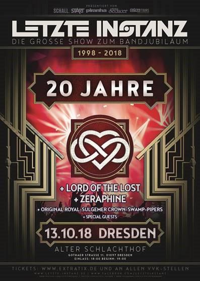 20 Jahre LETZTE INSTANZ – das Jubiläumskonzert am 13.10. in Dresden!