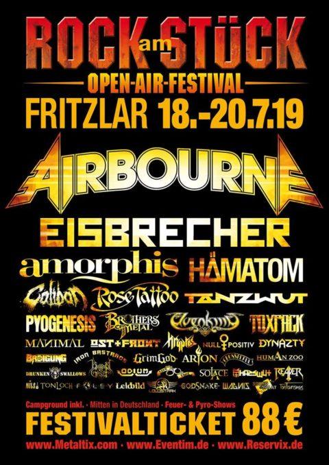 Rock am Stück 2019: Airbourne als Headliner für Samstag bestätigt