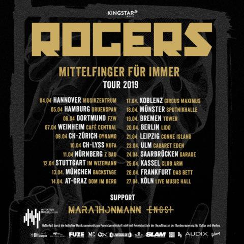 Rogers kommen im Frühjahr 2019 auf Headlinertour!