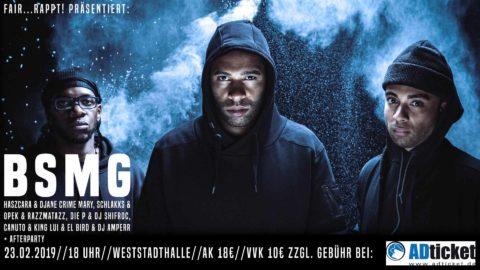 """Fair…rappt!-Abschlusskonzert mit HipHop-Crew """"BSMG"""" in der Weststadthalle Essen"""