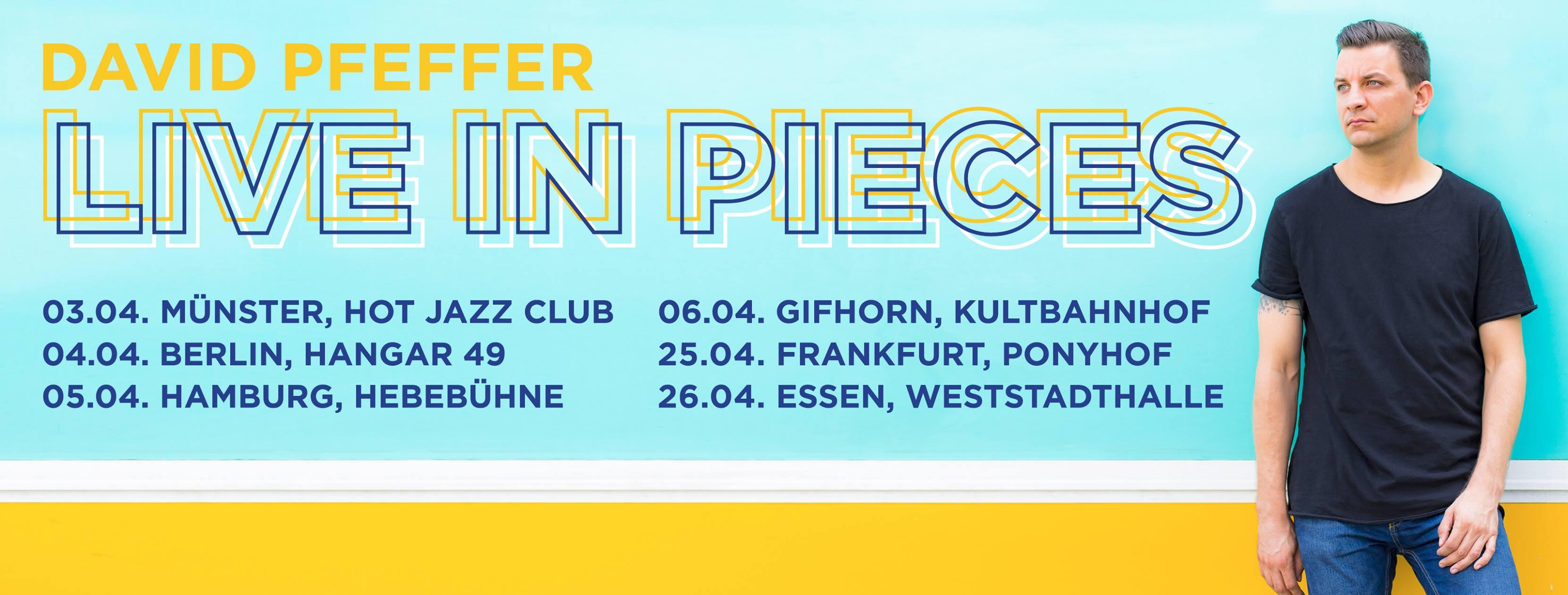 Die Musikiathek präsentiert: erlebt David Pfeffer im April 2019 live auf Tour!