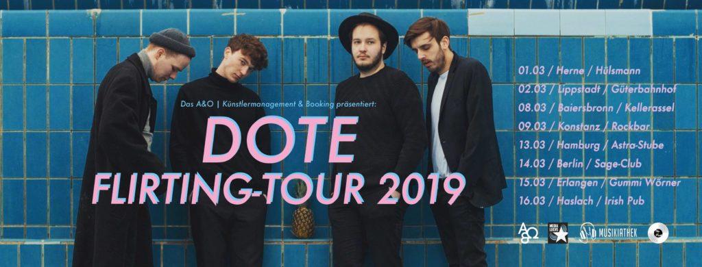"""DOTE kommen im März auf """"Flirting-Tour"""""""