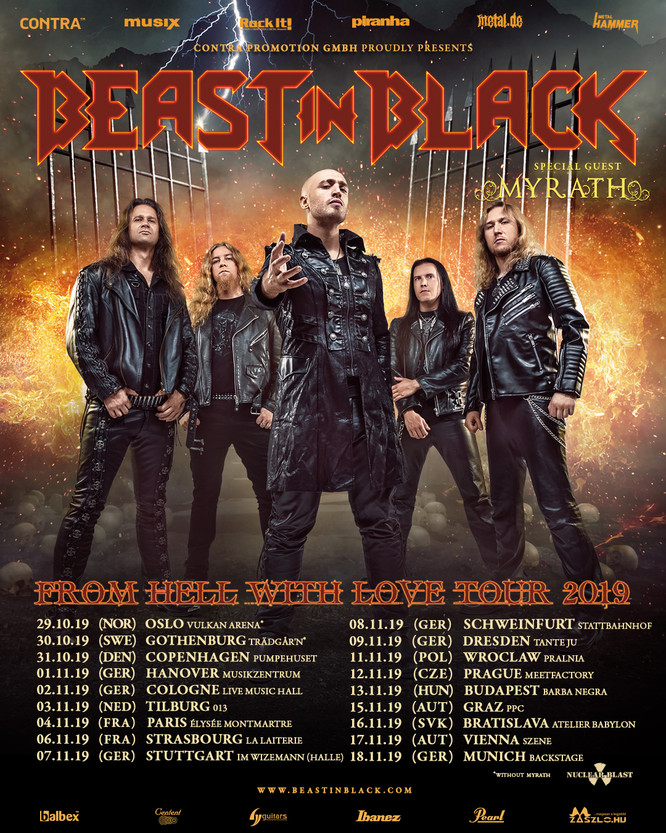 BEAST IN BLACK freuen sich auf den zweiten Teil der »From Hell With Love«-Europatour