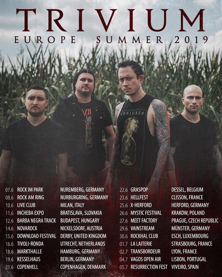trivium - Erlebt Trivium im Sommer 2019 live in Deutschland