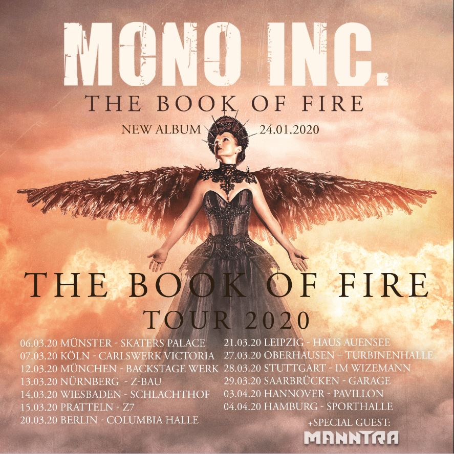 MONO INC. alle Infos & Tickets zur The Book Of Fire Tour 2020