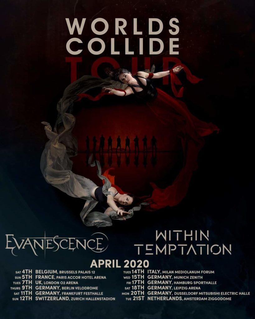 """""""Worlds collide"""": Evanescence und Within Temptation auf Tour 2020"""