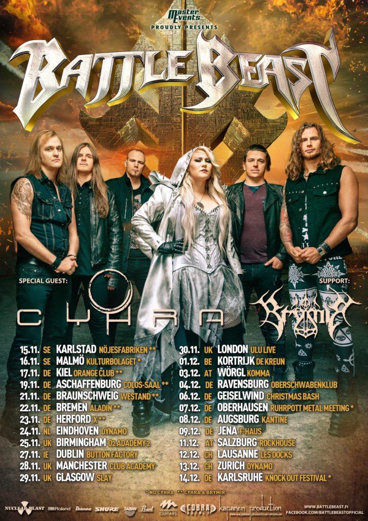 battle beast cyhra tour2019 724x1024 - BATTLE BEAST - News zu Teil II ihrer »No More Hollywood Endings«-Europatour