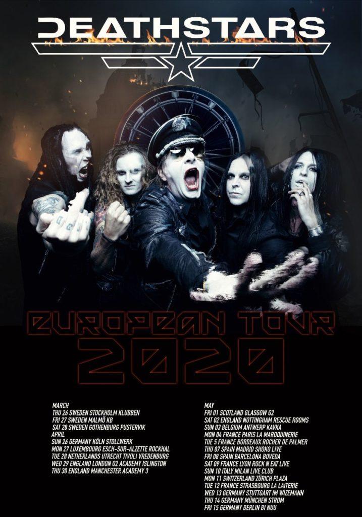 DEATHSTARS - verkünden Europa-Tour für 2020