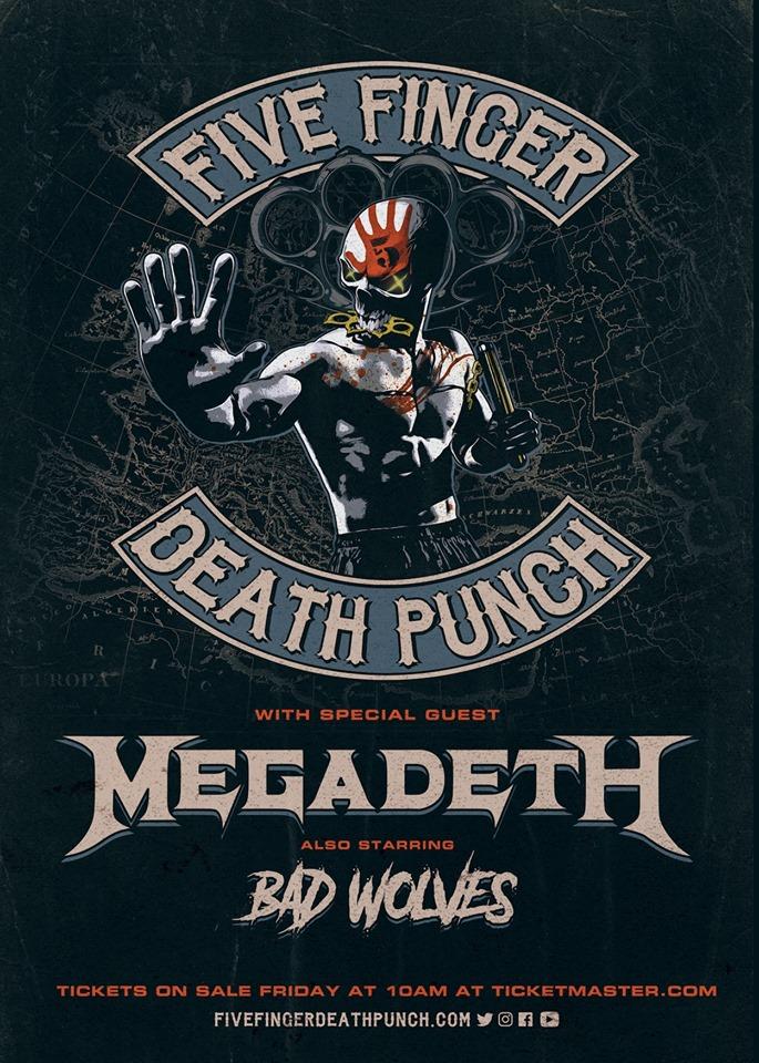 Infos & Tickets: Five Finger Death Punch kommen mit Megadeth auf Tour 2019 2020!