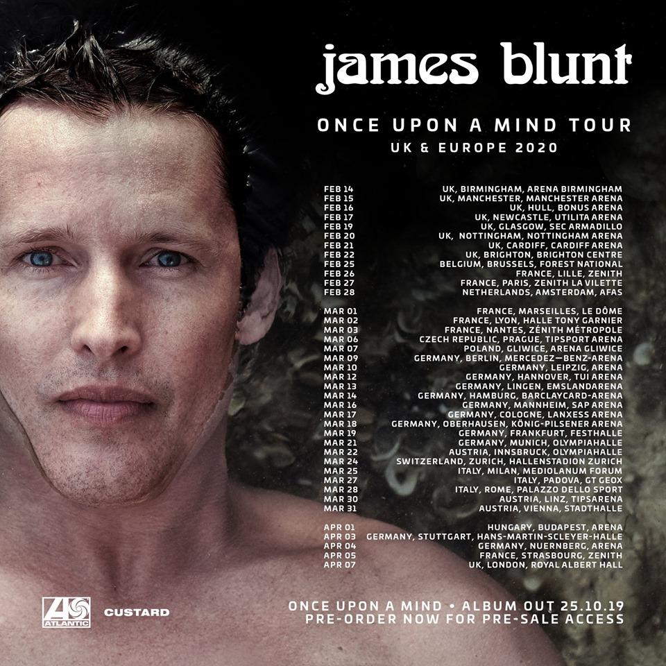 James Blunt verkündet Tour 2020: Infos und Tickets zur Europatour im Frühjahr 2020