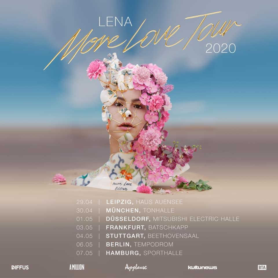 More Love Tour: Lena kündigt weitere Konzerte für 2020 an