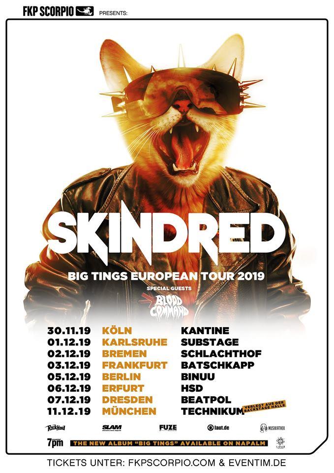Sichert euch die letzten Tickets: Skindred kommen ab Ende November auf Tour!