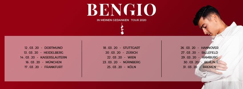 """bengio tour - Die Musikiathek präsentiert: Bengio auf """"In meinen Gedanken"""" TOUR im März 2020"""