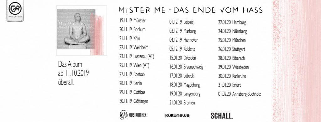 WIM und Wahnschaffe als Support von Mister Me bestätigt!