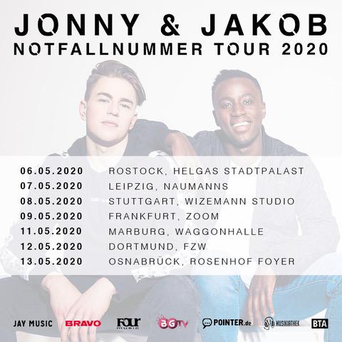 "Die Musikiathek präsentiert: Jonny & Jakob kommen auf große ""Notfallnummer Tour"" 2020"