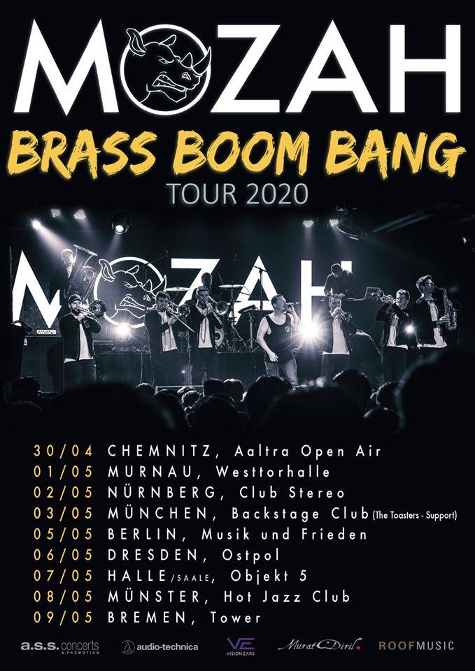 Die Musikiathek präsentiert: MOZAH kommen auf BRASS.BOOM.BANG Tour 2020