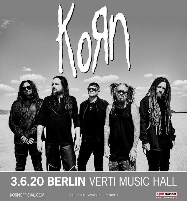Vor ihren Auftritten bei RaR / RiP spielen Korn am 03.06. eine Headliner-Show in Berlin