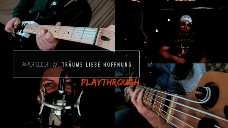 Papierflieger legen mit Playthrough Video zum Singlerelease nach!