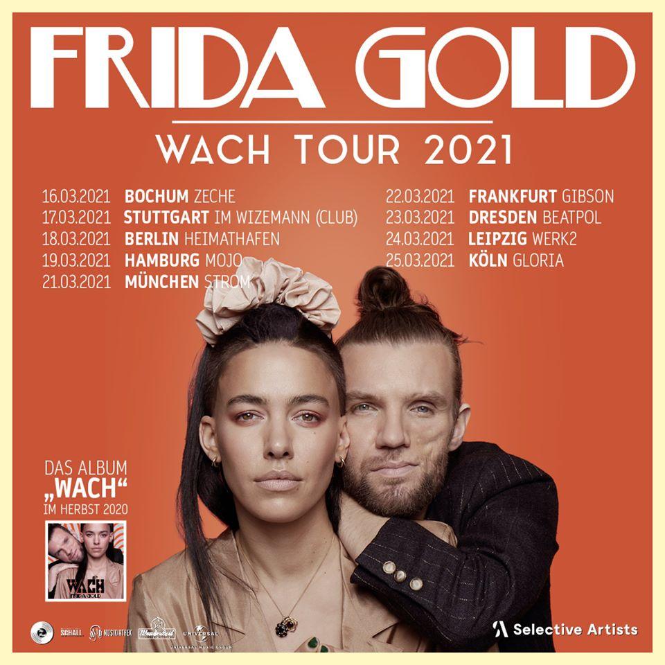 """frida gold - Die Musikiathek präsentiert: Frida Gold auf """"Wach"""" Tour 2021"""