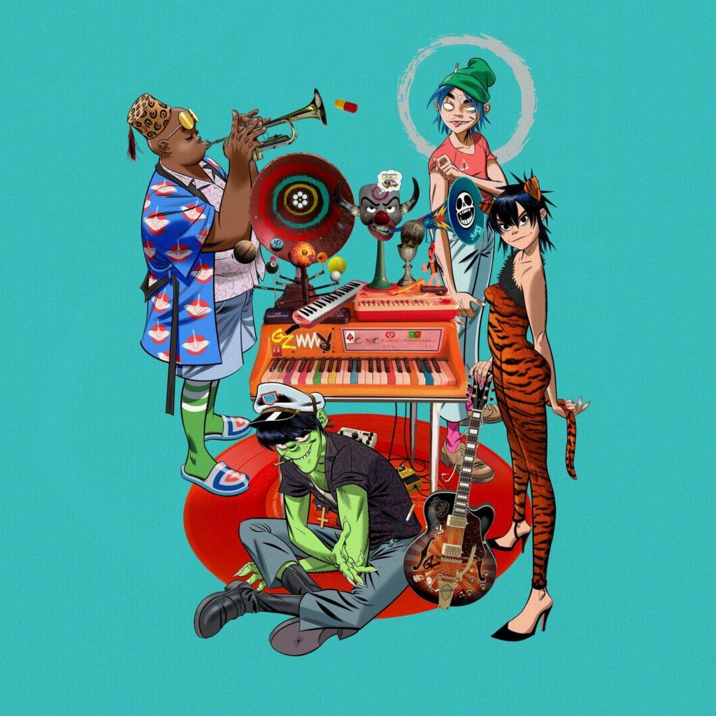gorillaz 1024x1024 - Gorillaz: Am 23.10. kommt Teil 1 des Song-Machine-Projektes – mit vielen hochkarätigen Gästen